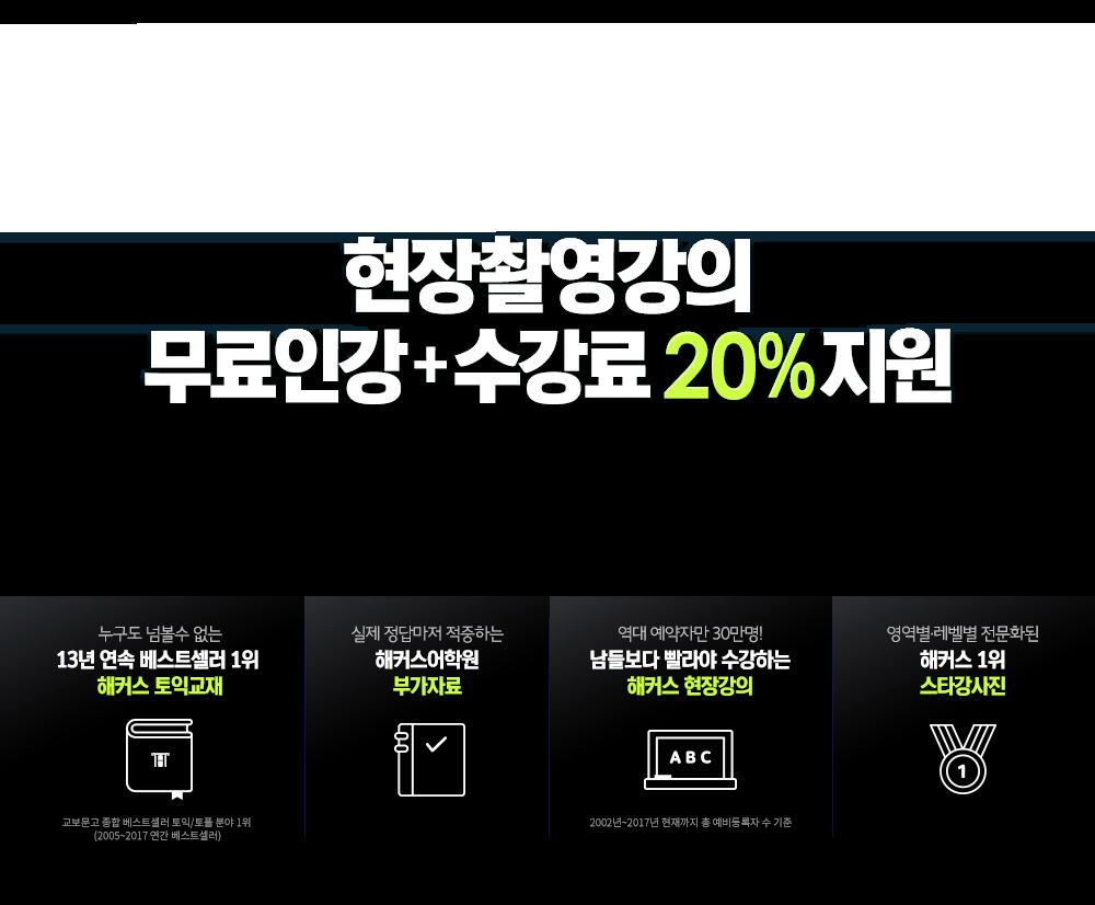 현장촬영강의 무료수강 + 수강료 20% 지원