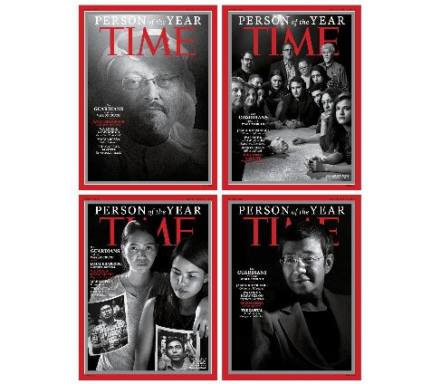 타임지, 올해의 인물은 '언론인들'