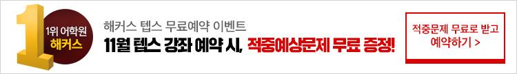 11월 텝스 무료예약