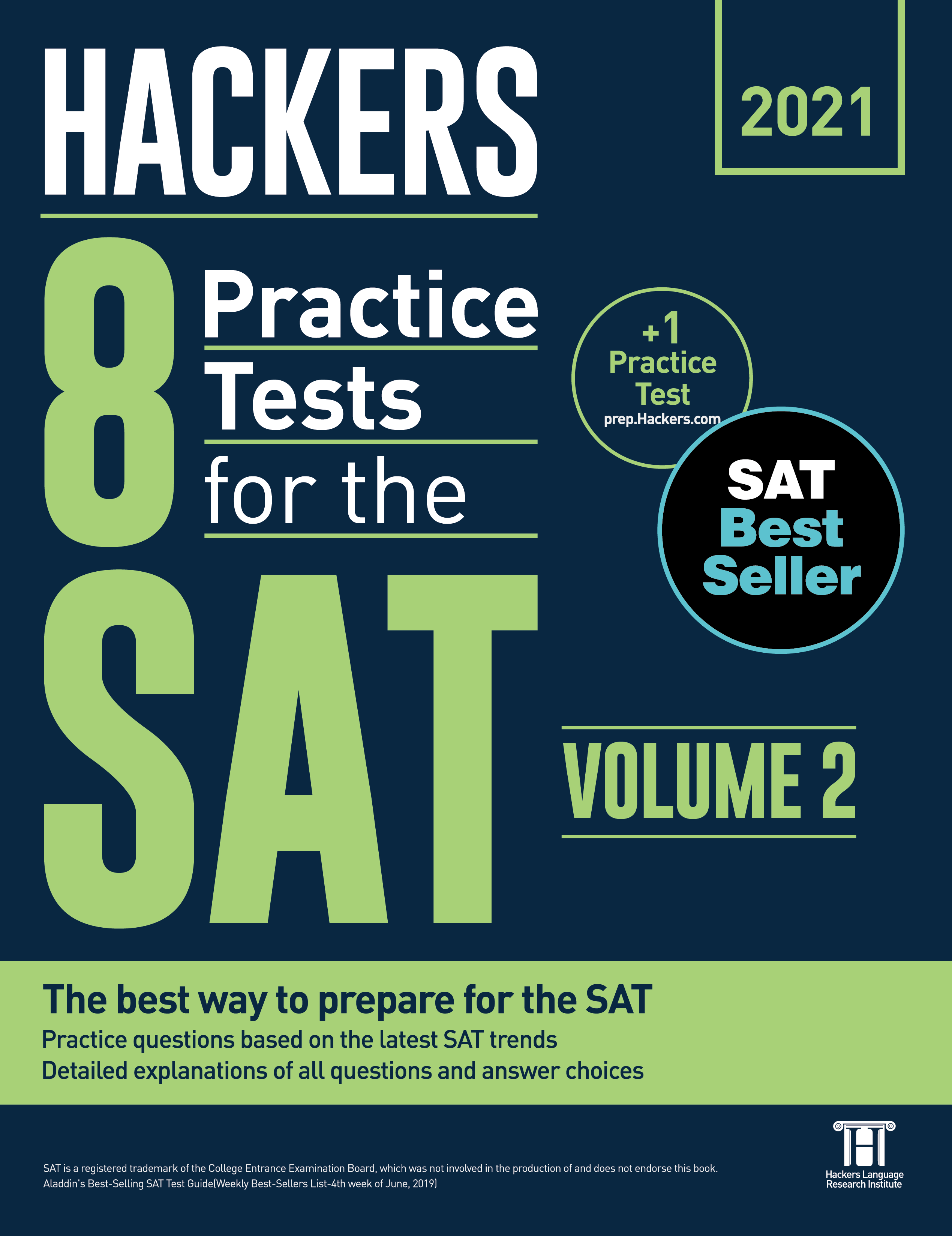 Hackers 8 Practice Tests for the SAT 2