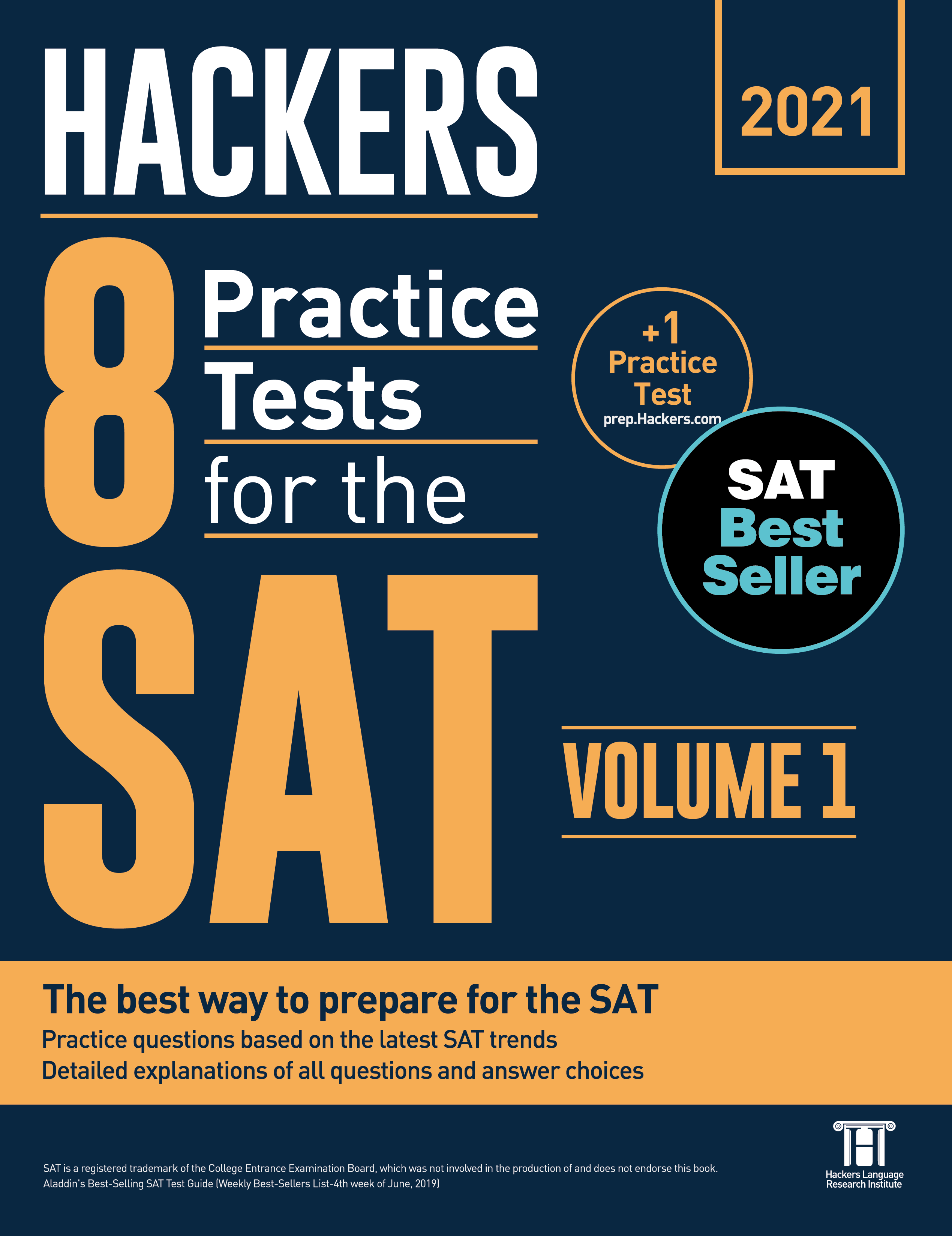 Hackers 8 Practice Tests for the SAT 1