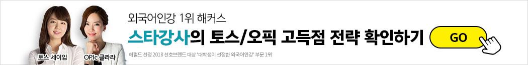 스타강사의 토스/오픽 고득점 전략 확인 go