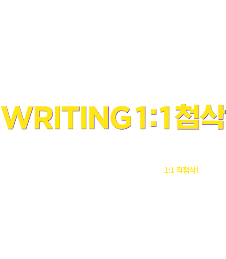 TOEFL&IELTS WRITING 1:1 첨삭