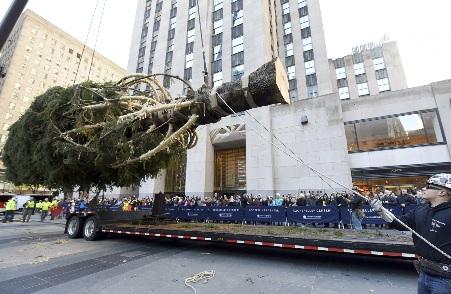 뉴욕 록펠러 센터의 '미리 크리스마스'