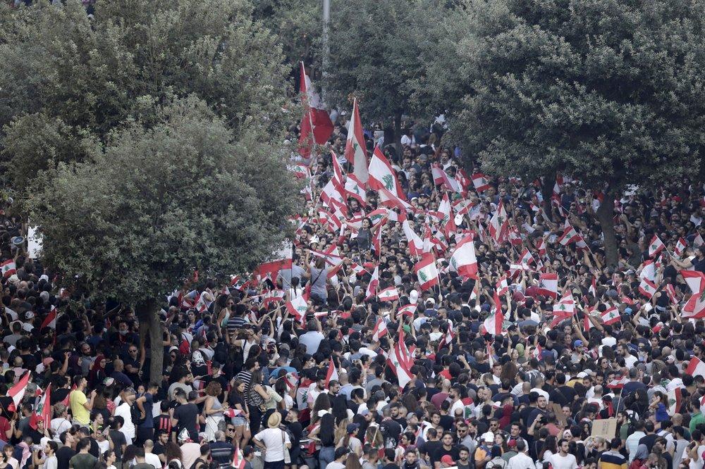 레바논, 반정부 시위 격하