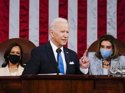 조 바이든 대통령, 취임 100일 첫 의회 연설 진행