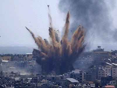 이스라엘-팔레스타인, 민간인 공습으로 국제법 위반