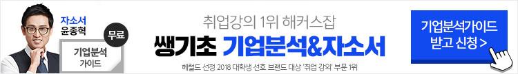 해커스잡 쌩기초 기업분석&자소서