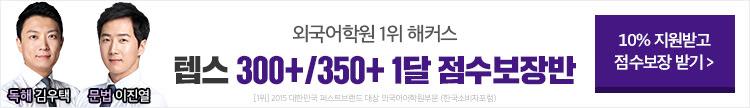 2019 8월 텝스 점수보장반